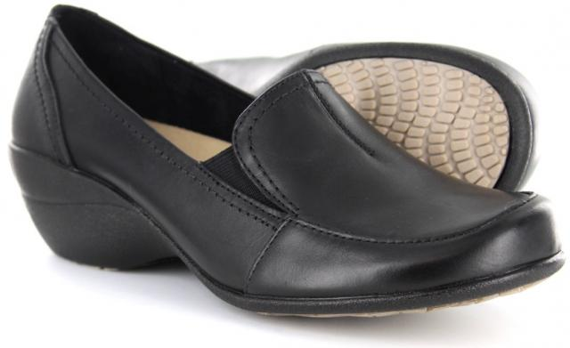 Black   Wide Shoe With Removable Insole