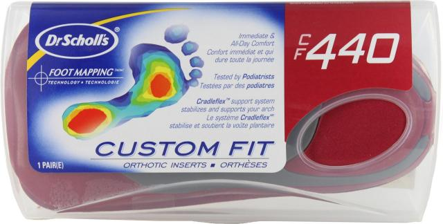 Dr. scholl's custom fit orthotic inserts cf 440 coupons